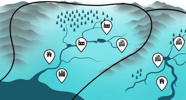 Image of catchments for module 5