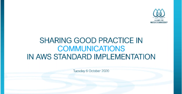 Sharing Good Practices in Communication Webinar slide