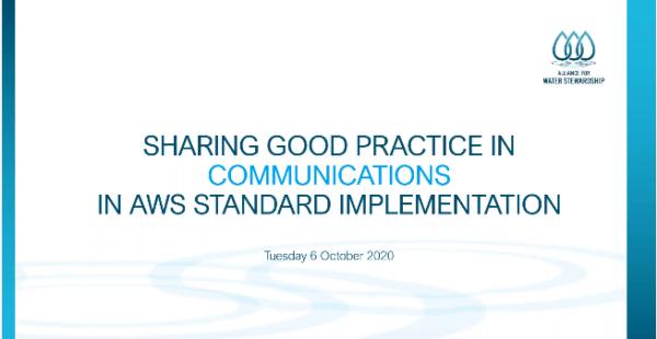 Sharing Good Practices in Communication Webinar slide